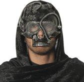 Masker doodskop zilver