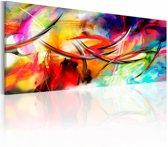 Schilderij - Dans van de regenboog