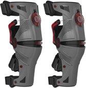Mobius X8 Knie Brace Storm Grey/Crimson-L
