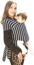 Baby draagdoek gestreept zwart wit   ergonomisch   katoen