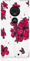 Motorola Moto G7 | G7 Plus Standcase Hoesje Design Blossom Red