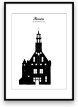 Hoorn stadposter - Zwart-wit