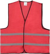 Veiligheidshesje - Veiligheidsvest - Volwassene - Rood - 1 stuk