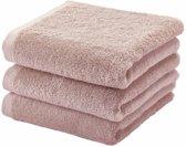 Aquanova Handdoek set/3 LONDON kleur dusty pink-87 (55x100cm)