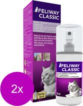 Feliway Anti-Stress Spray Kat - Anti stressmiddel - 2 x 60 ml