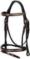 Harry's Horse Hoofdstel Rosegold Classic PONY Zwart