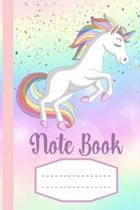 Note Book: Cute Unicorn Notebook for girls, Wide Ruled Composition Notebook in 6x9 for note taking