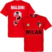 AC Milan Maldini Gallery Team T-Shirt - Rood - XXXXL