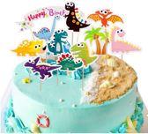 9 stuks Dinosaurus cupcake toppers