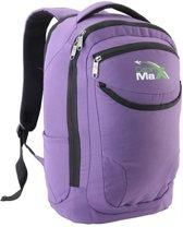 CabinMax Rugzak - Schooltas - Handbagage 21l - Laptoptas - Paars (DUBLIN P)