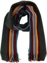 Profuomo sjaal grijs gestreept_ONESIZE, maat One size