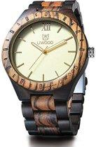Nieuw - Topkwaliteit Trendy Houten Horloge - Edition: Black Zebra - UWOOD