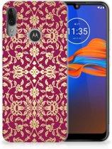 Motorola Moto E6 Plus Siliconen Hoesje Barok Pink