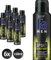 Fa Men Sport Double Power Boost - 6 stuks - Voordeelverpakking - Deodorant