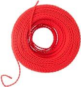 Gedraaid Rood strijkijzersnoer 10 meter | Maak je eigen unieke lamp!