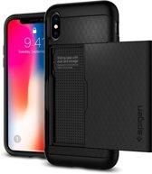 Spigen iPhone X Case Crystal Wallet Blac