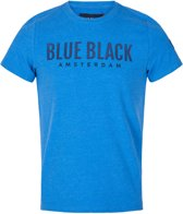 Blue Black Amsterdam Jongens T-shirt Tim - Blauw Melange - Maat 152