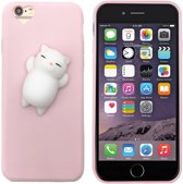 Colorfone PREMIUM Squishy Hart Case / 3D Soft Siliconen Cat / Squeeze / TPU / Softcase / Hoesje / Cover / Case voor de Apple iPhone 8/7 in Lichtroze