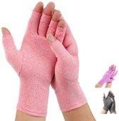 Pro-orthic Reuma Artritis Compressie Handschoenen Roze - Small