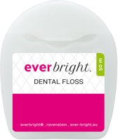 Everbright Waxed Floss Mint | Fluoride | 50 meter flosdraad | Sterk & Stevig | Mint
