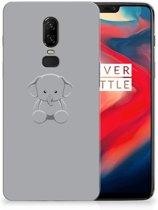 OnePlus 6 Telefoonhoesje met Naam Grijs Baby Olifant