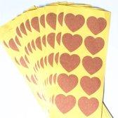 Hartvormige Labelstickers blanco 5x10 - Etiketten - Stickers - Map label - Plakkertjes - Afsluitsticker -