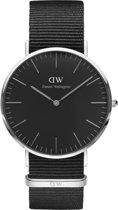 Daniel Wellington Classic Black Cornwall DW00100149 - Horloge - NATO - Zwart - Ø 40mm