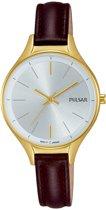 Pulsar PH8280X1 horloge dames - bruin - edelstaal doubl�
