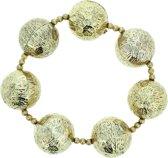 Goudkleurige armband met kralen