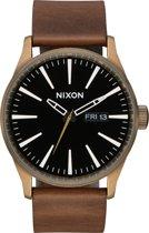 Nixon Sentry A1053053 - Horloge - Leer - Bruin - 42mm