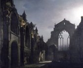 Louis Daguerre : Ruins of Holyrood Chapel (1824) Canvas Print