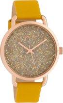OOZOO Timepieces Geel horloge  (38 mm) - Geel