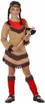 Indiaan Chinouk kostuum voor meisjes rood 128 (7-9 jaar)