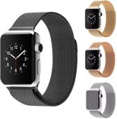 Milanese Loop Armband Voor Apple Watch Series 1/2/3 42 MM Iwatch Metalen Milanees Horloge Band - Zwart