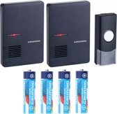 Limited Edition Grundig Draadloze Deurbel 2 Draagbare Ontvangers Inclusief Grundig Batterijen