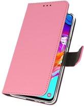 Wallet Case Hoesje voor Samsung Galaxy A70 Roze