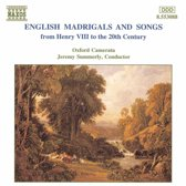 English Madrigals and Songs / Summerly, Oxford Camerata