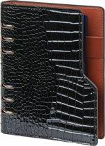 Kalpa 1116-61 Personal (standaard) compact organiser gloss croco zwart - 2019 2020 2021