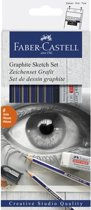 Afbeelding van Grafietset potloden Faber-Castell Goldfaber 8-delig