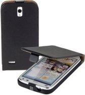 Lelycase Zwart Eco Leather Flip Case Hoesje Huawei Ascend G610