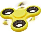 relaxdays - fidget spinner - tri-spinner 58g - hand spinner, anti-stress draaier geel