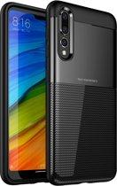 Let op type!! UNBREANK PC + TPU onzichtbare Airbag schokbestendige beschermhoes voor Huawei P20 Pro (zwart)
