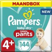 Pampers Baby Dry Pants Luierbroekjes - Maat 4+ (9-15 kg) - 144 Stuks