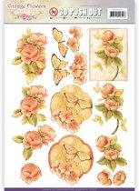 Uitdrukvel  - Jeanine's Art - Vintage Bloemen - Geliefde Vintage