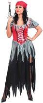 Versleten piraten kostuum voor vrouwen  - Verkleedkleding - Medium