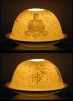 Sfeerlicht porselein Boeddha - 11.5x7.8 cm