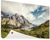 Berggebied Tuinposter 60x40 cm - klein - Tuindoek / Buitencanvas / Schilderijen voor buiten (tuin decoratie)
