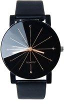 Luxueus zwart  Horloge Ø31mm