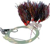 Albatros DD Mackerel Rig - 160 cm - Haakmaat 1 - Mixed Glitter