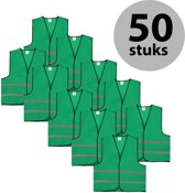 Veiligheidshesje - Veiligheidsvest - Kind - Groen - 50 stuks
